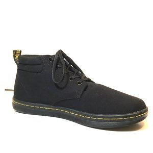 "NEW Dr Martens Black ""Maleke"" Canvas Chukka Boots"